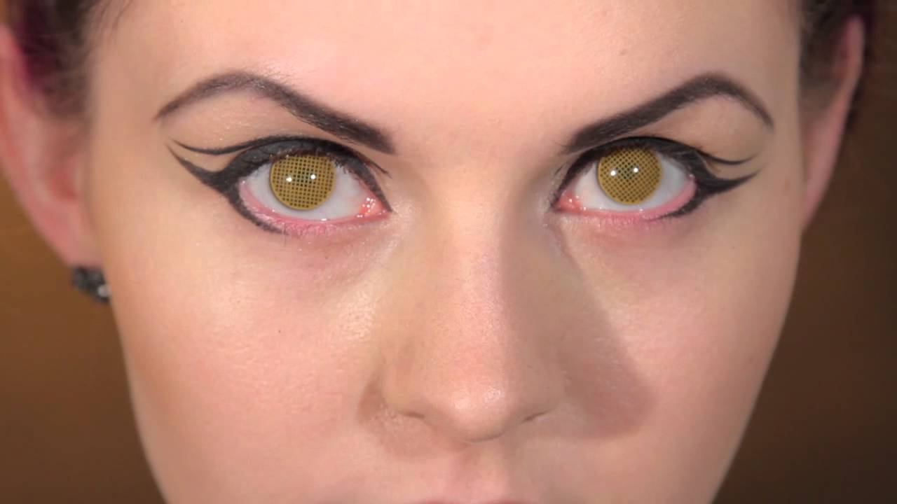 Contact: Yellow Mesh Coloured Contact Lenses