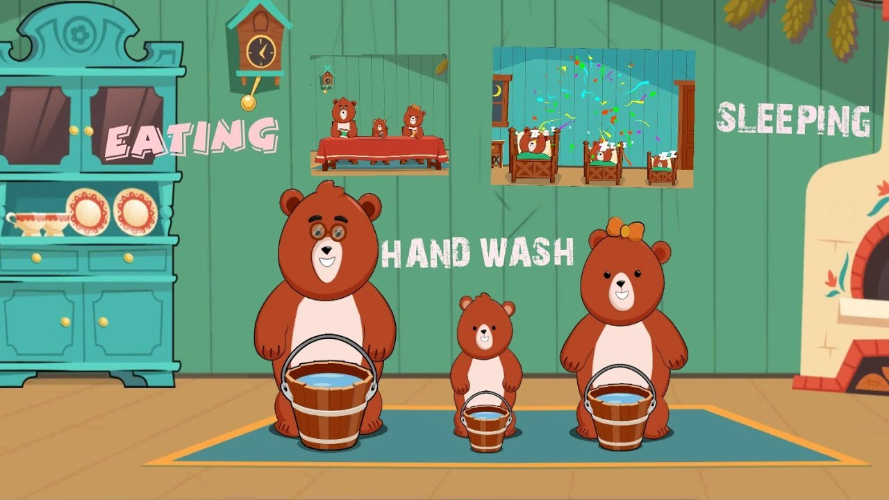 BEAR FAMILY KID'S LEARNING VIDEO|BEST LEARNING VIDEO FOR KID'S|KID'S DAILY LIFE HABIT
