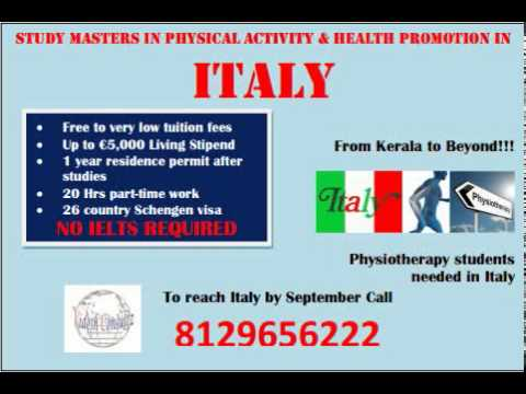 Study Physio Therapy in  Italy