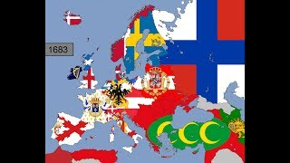 Europe: Timeline of National Flags: Part 4