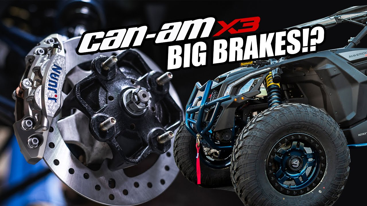 The First Big Brake Upgrade Kit for the Can-am X3 is here!