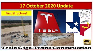17 october giga texas update! this is where the cyber truck and model y will be built!in video, we discuss schedule see how they are tracking t...