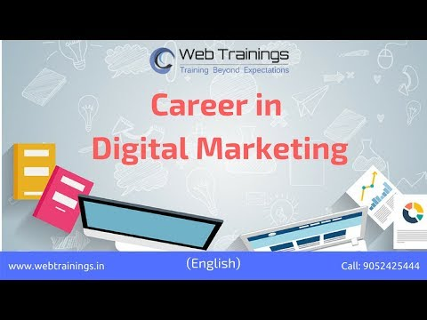 Digital Marketing Career - Digital Marketing Jobs & Careers (2018)