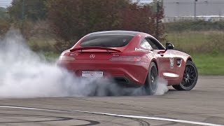 Mercedes-AMG GT S w/ ASG Exhaust BURNING RUBBER!