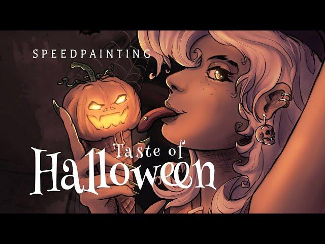 [Speedpaint] TASTE OF HALLOWEEN 🎃 Coloring Process (Clip Studio Paint)