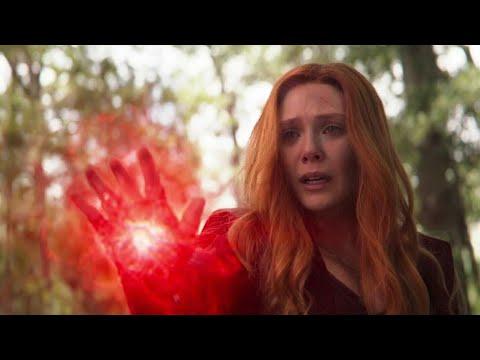 Scarlet Witch kills Vision (Vision's death) / Wakanda team vs Thanos | Avengers Infinity War. thumbnail