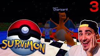 EVOLUCIONO A MI SUPER CHARMELEON | MINECRAFT SERIE DE MODS PIXELMON SURVIMON 1.10.2 KIRON EP.3