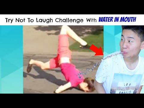 Try Not To Laugh Challenge w/ WATER IN MOUTH!! (Funniest ...