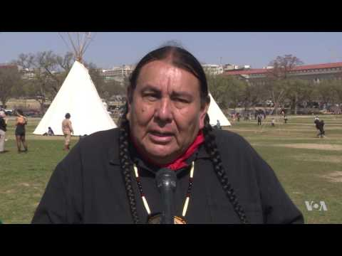 Native Americans March In Washington To Protest Pipeline