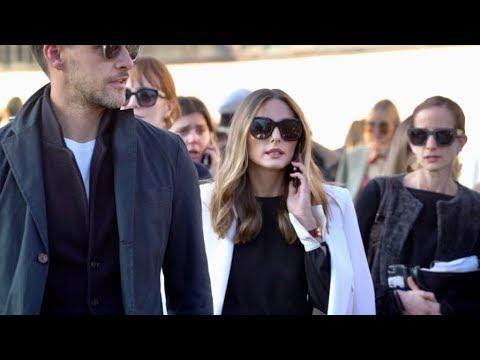 Olivia Palermo And Johannes Huebl Attend The Alberta Ferretti Fashion Show