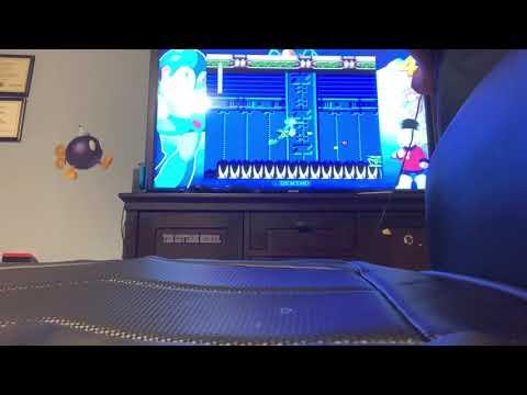 Mega man legacy collection with the Mega man 4 and with the first boss and with the 2nd boss |