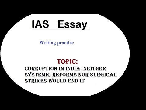 Essay writing discussion IAS (Corruption in India)