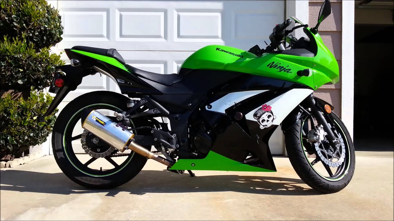 Two Brothers Slip on Exhaust 2010 Kawasaki Ninja 250R Review - YouTube