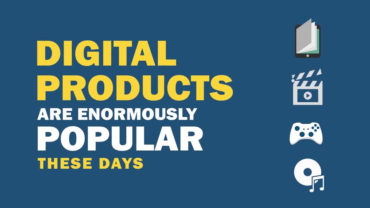 Sell Digital Products Online - YouTube