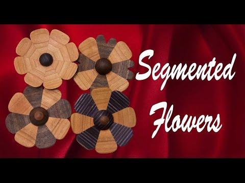 Woodturning Segmented Flowers
