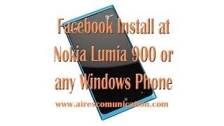 Facebook installation at Nokia Lumia 900