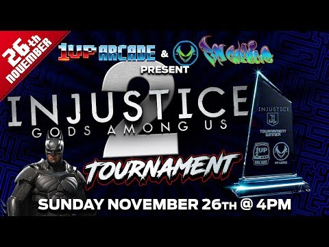 Injustice 2 tournament from 1up Arcade. Feat SolidSnake, Nova & Befapeto1982