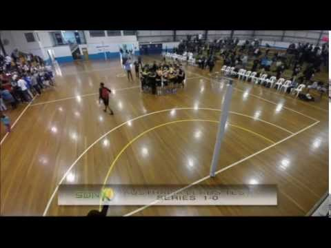 Aust vs NZ Mens Netball 1st Test Trans Tasman 2014