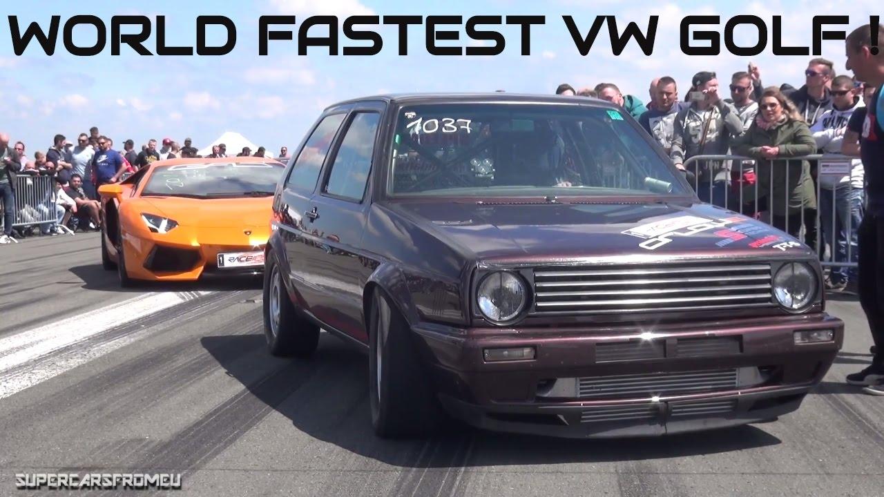 1300 Hp World Fastest Vw Golf Turbo During Half Mile Run W Insane