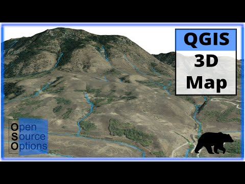 QGIS 3D Map using 3D View (Version 3 x) - YouTube