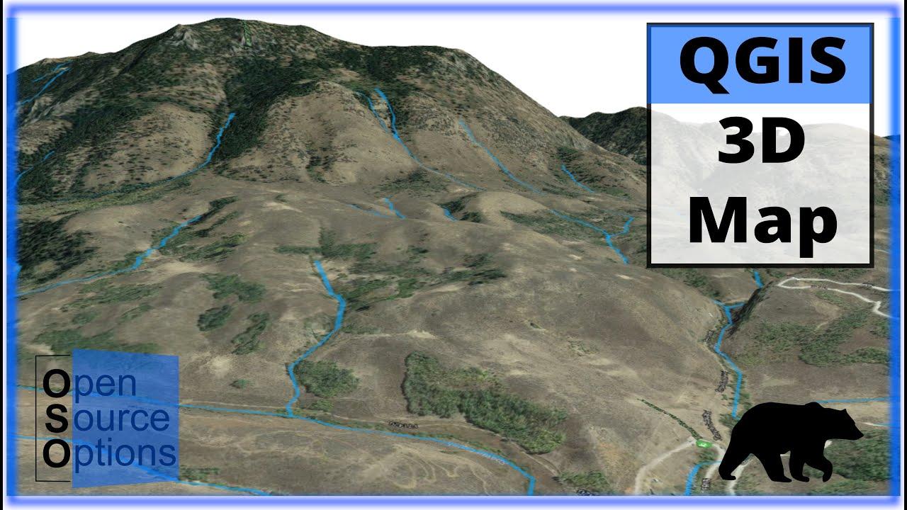 QGIS 3D Map using 3D View (Version 3 x)