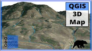 QGIS 3D Map using 3D View (Version 3.x)
