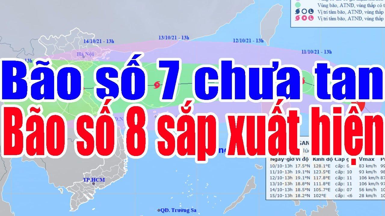 Tin Thời Tiết mới nhất :Bão số 7 chưa tan bão Kompasu sắp vào Biển Đông
