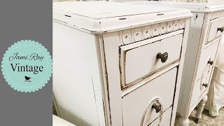 How To Turn A Vanity Into Nightstands | Fix Yellowing On White Paint
