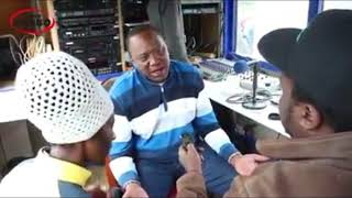 Uhuru Opens Up , He Loves REGGAE Music. He Talks in SHENG while on Interview.