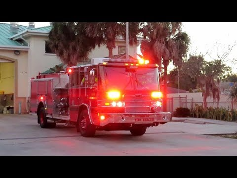 *NEW* Engine 23 Responding - First Catch/Video - Tampa Fire Rescue