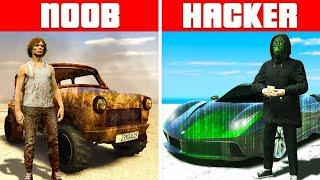 NOOB vs PRO vs HACKER SUPERCARS in GTA 5 RP!