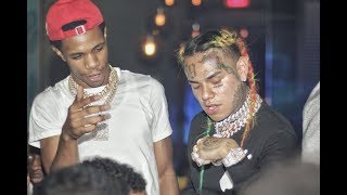 A Boogie Runs Into 6ix9ine At Club in New York