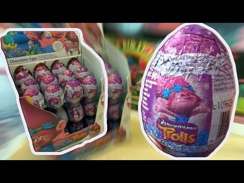 36 Trolls Kinder Surprise Eggs Trolls Movie unboxig (eng Subtitles)