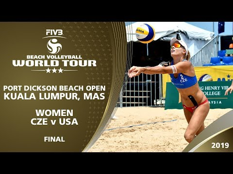 Women's Final: CZE vs USA   3* Kuala Lumpur (MAS) - 2019 FIVB Beach Volleyball World Tour