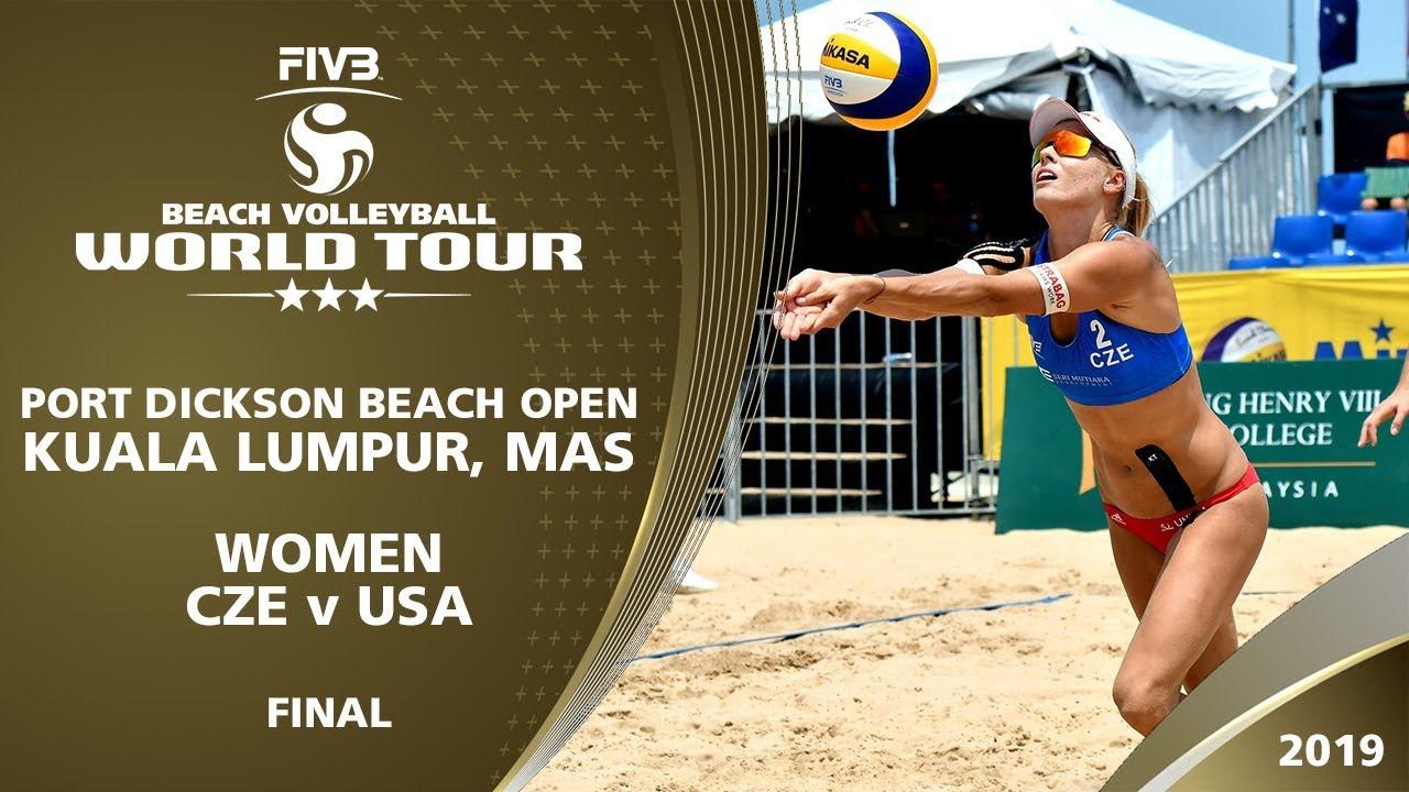 Women S Final Cze Vs Usa 3 Kuala Lumpur Mas 2019 Fivb Beach Volleyball World Tour Youtube