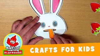 Feed the Rabbit Craft for Kids | Maple Leaf Learning Playhouse