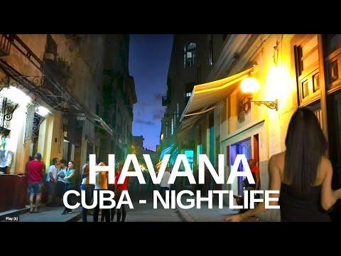 【4K】OLD HAVANA, CUBA WALK - Nightlife, Bars, Clubs & Restaurants