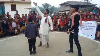 PAC Nepal Janakpur Sadak Natak(ODF Camping And Disaster Risk Reduction (DRR) Part=1