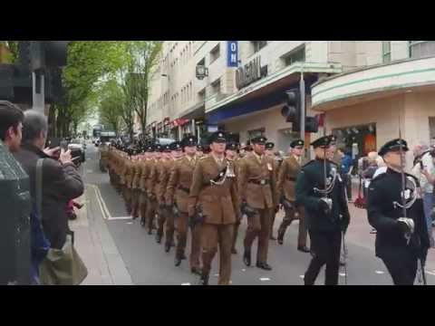 Freedom of the City Parade - The Rifles, Bristol City Centre 25/4/2015