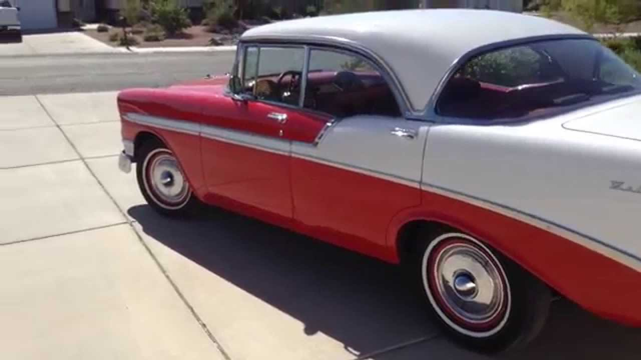All Chevy 55 chevy for sale : 1956 CHEVY BELAIR 4-DOOR HARDTOP FOR SALE - YouTube