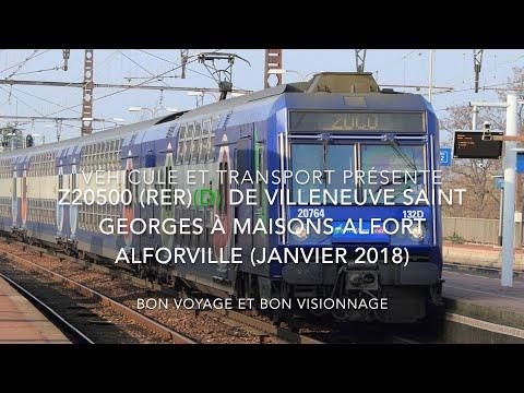 Z20500 RER D de Villeneuve St Georges à Maisons Alfort Alfortville (Véhicule et Transport)