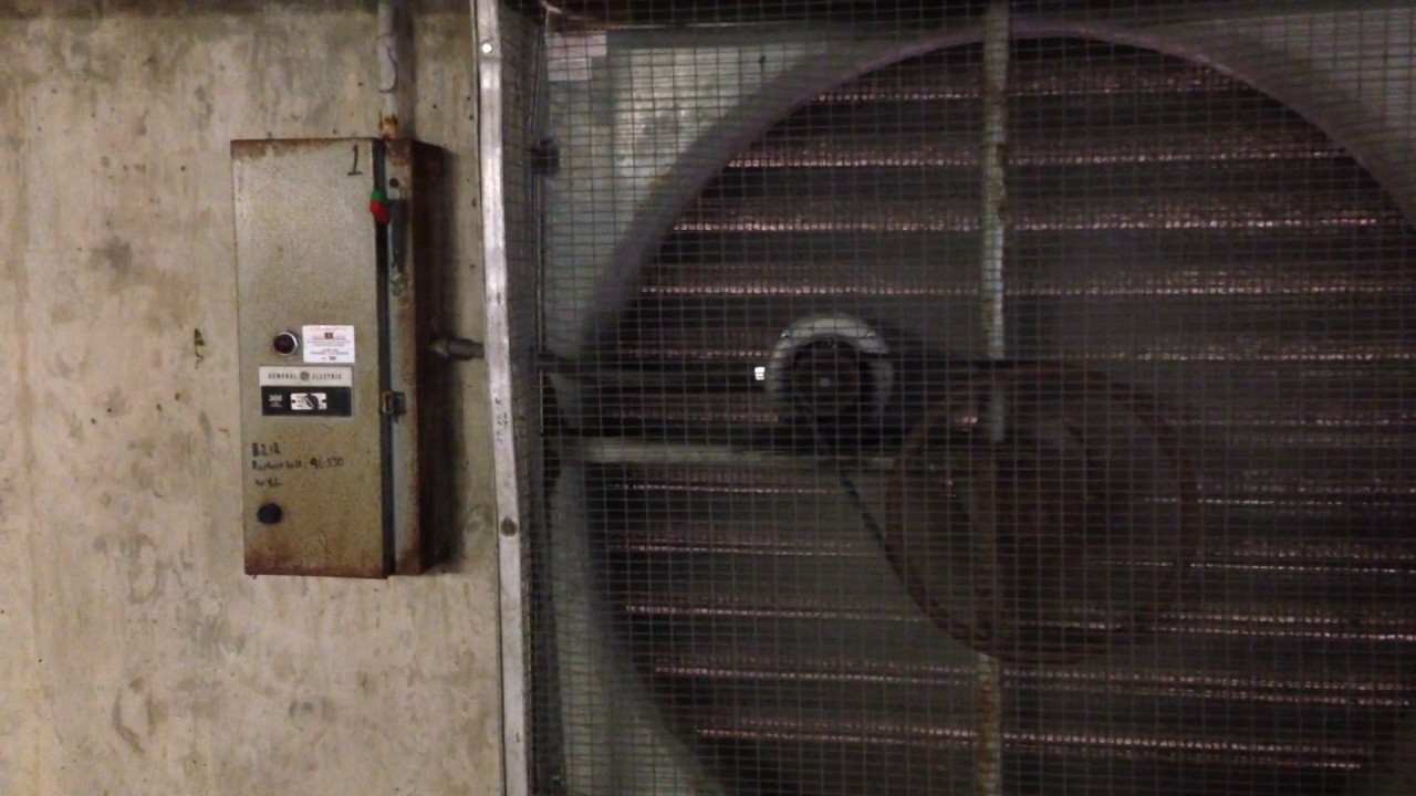 Parking Garage Ventilation : Loud buzzing fan in reston town center parking garage
