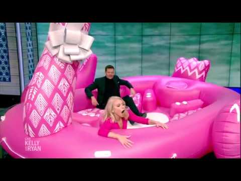 Kelly Gets Surprised With A Giant Inflatable Flamingo
