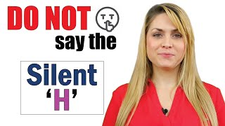 Silent Letter 'H' | 60 Words | English Pronunciation lesson