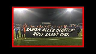 VIDEO: Emoties bij fans en spelers De Graafschap na overlijden supporter: 'dit hakt er in'