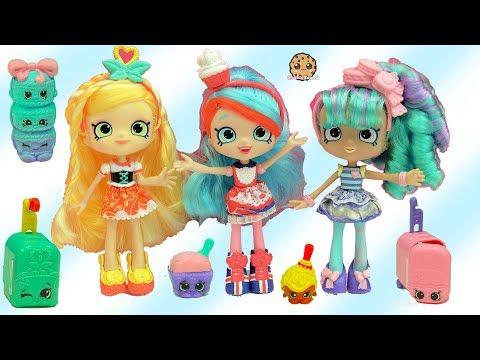Season 8 World Vacation Shopkins Shoppies dolls Spaghetti Sue + Macy Macaron + Surprise Blind Bags