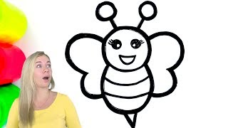 Coloring Bee for Toddlers and Drawing for Kids