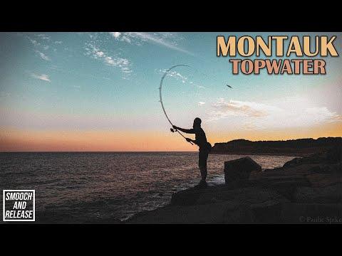 Montauk Topwater Surf Fishing - Montauk Point Lighthouse - Long Island , New York