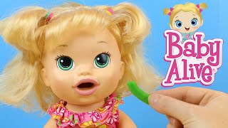 Baby Alive Snackin' Sara Eats and Poops Play Doh Food Doll Review