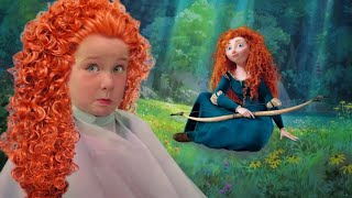 ADLEY PRINCESS MAKEOVER!! Surprise Disney Date and Magic Salon to become Merida! (Disneyland)